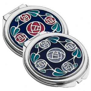 Rennie Mackintosh Rose and Leaves Purse Mirror